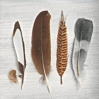 Papierservietten Feather